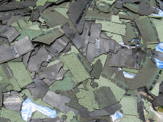 roof tiles are a common straight load, also known as clean fill, for dumpster rental