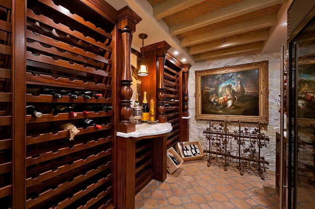 one empty basement idea is to create a wine cellar