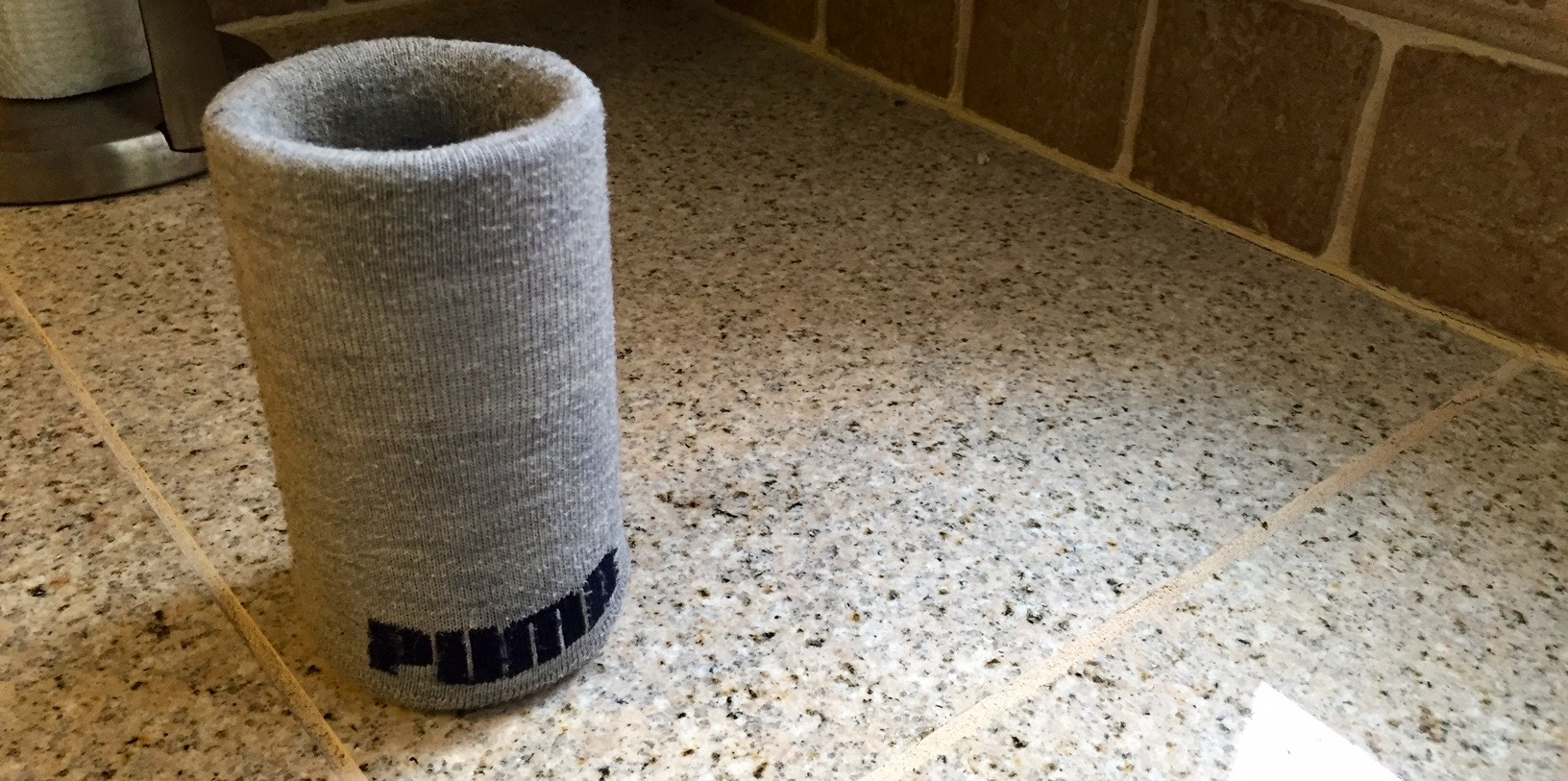 For extra padding, put drinking glasses in clean socks.