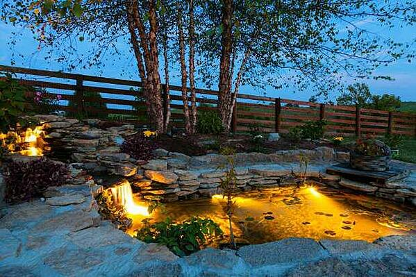 Pond and Stone Albertan Backyard
