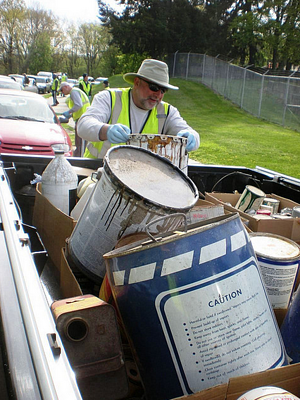 dumpster rental is not for household hazardous waste