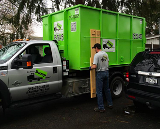residentially friendly dumpster bins should easily fit in driveways