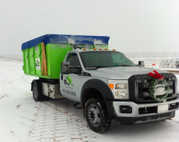 winter dumpster rental is available