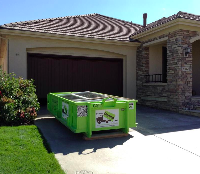 Bin There Dump That bins are driveway friendly, designed for homeowners.