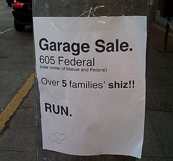 Improve the size of your garage sale by joining forces with your neighbors.