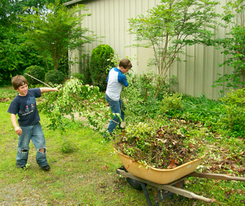 spring yard work is an excellent reason to consider dumpster rental