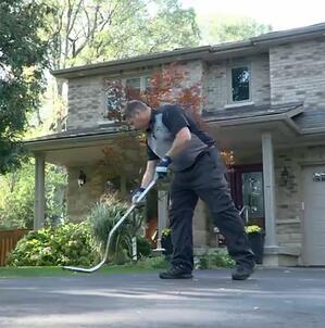 Sweeping up Nails After Dumpster is Picked Up2