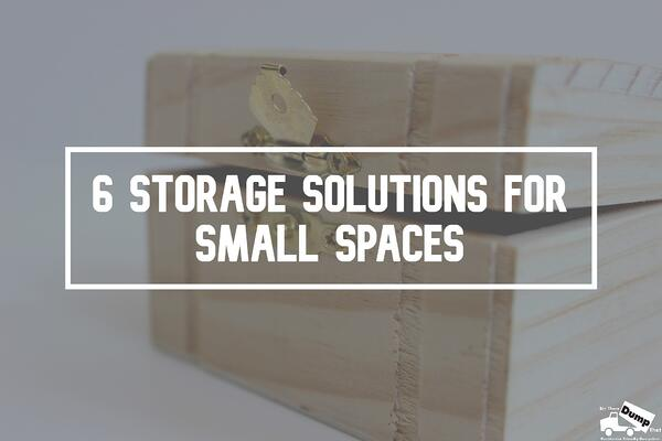 6 storage solutions for small spaces title